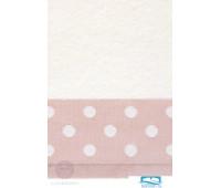 Полотенце 'PRETTY DOTS' р-р: 50x100см, цвет: белый/розовый