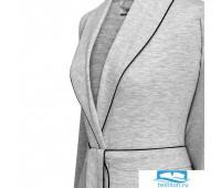 Адриана, халат жен, сер., меланж, XL(50), 50% хл, 50% ПЭ, 165 гр/