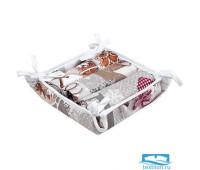 Набор полотенец 35х60 (3 шт.) в текстильной вазе 'Новый год'