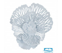Настенный декор Stamos. Цвет белый. Размер 43х38х11 см. металл
