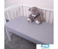 Постельное белье в детскую кроватку из поплина 1823/1+388/17 с