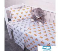 Постельное белье в детскую кроватку из поплина 1824/1+1824/2 с