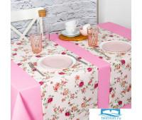 Комплект 2 дорожки на стол Жасмин 40х140 см - 2 шт, хлопок