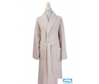 Халат c вышивкой Роза Beige (бежевый) L-XL