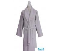 Халат c вышивкой Роза Grey (серый) L-XL