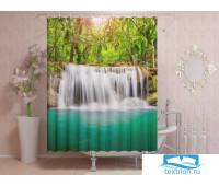 Фотоштора для ванной 145*180, 1 полотно, на люверсах Водопад