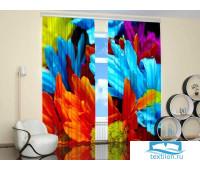 Яркие Цветы (Крепление: Шторная лента, Материал Шторы: Габардин, Высота: 260, Ширина: 310) PhSh02-71