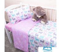 Постельное белье в детскую кроватку из поплина 2137/1+395/2 с