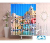 Фотоштора для ванной 145*180, 1 полотно, на люверсах Неаполь