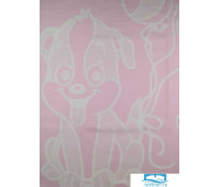 Одеяло Хлопок100% Cобачка розовая 100x140