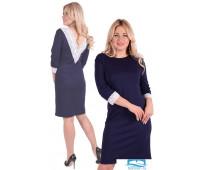 Платье П 751 (темно-синий) 46