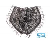 Палантины шерсть с вышивкой бисер № Тк901/111
