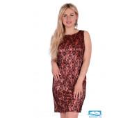 Платье П 387/6 (персиковый) 46