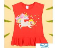 Туника для девочки KAFTAN 'Пони', красная, рост 98-104 см (30)