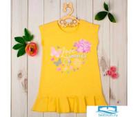 Туника для девочки KAFTAN 'Summer', жёлтая, рост 98-104 см (30)