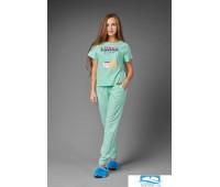 Пижама женская ЖП 026 (мятный с горохом) 42 размер