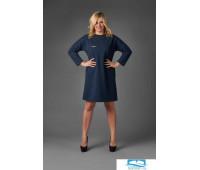 Платье П 697 (меланж синий) 54 размер