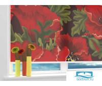 Рулонная штора 'Пышное цветение' Ширина: 130 см. Высота: 190 см. управление справа