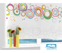 Рулонная штора 'Офисная абстракция' Ширина: 60 см. Высота: 175 см. управление справа