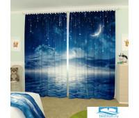 Фотошторы блэкаут 145*260, 2 полотна Ночное небо