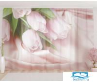 Художественный фототюль 290*260, 1 полотно Нежнейшие тюльпаны