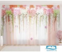 Художественный фототюль 290*260, 1 полотно Цветочный верх 3
