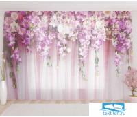 Художественный фототюль 290*260, 1 полотно Цветочный водопад