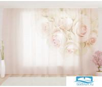 Художественный фототюль 290*260, 1 полотно Чувственные розы