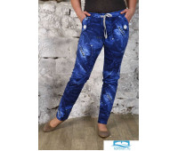 Брюки домашние (футер) мод. 349 разм.50 синие Брюки домашние