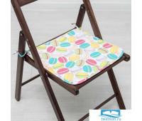 Сидушка на стул «Этель» Макарон 40*40