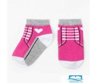 Носки Крошка Я 'Кеды' 10-12 см, розовый   3855507
