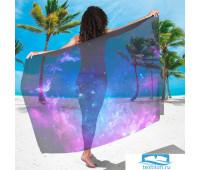 Парео Фиолетовое звёздное небо (90х180 см)