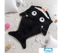 Одеяло (конверт) для детей Крошка Я  'Акула' цв.черный
