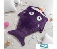 Одеяло (конверт) для детей Крошка Я  'Акула' цв.фиолетовый