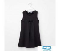 Платье KAFTAN рост 122-128, 34, чёрный 4365260
