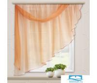 Комплект штор для кухни Весна 280*160 св.персик лев.