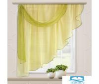 Комплект штор для кухни Весна 280*160 св.желтый лев.