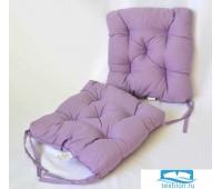 Набор подушек для стула цв. фиолетовый, 35*35см 2шт, бязь