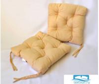 Набор подушек для стула цв. бежевый, 35*35см 2шт, бязь, файбер