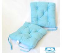 Набор подушек для стула цв. голубой, 35*35см 2шт, бязь, файбер