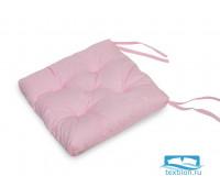 Набор подушек для стула цв. розовый, 35*35см 2шт, бязь, файбер