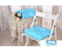 Набор подушек для стула цв. бирюза, 35*35см 2шт, бязь, файбер