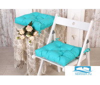 Набор подушек для стула цв. изумруд, 35*35см 2шт, бязь, файбер