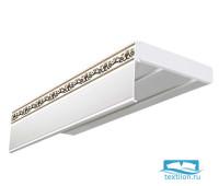 Шина комплектная Эконом+, 3-х рядная, 350см, Золото Дамаск