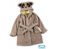 №7 Brown Panda халат детский р-р: 6 лет, цв. темн.бежевый