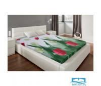 Простыня Этель «Тюльпаны», 150х220 см 4929533