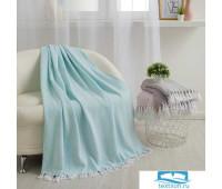 Плед Этель «Зиг-Заг» 150х200± 5 см, цвет мятный, 310 гр/м2