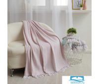 Плед Этель «Зиг-Заг» 150х200± 5 см, цвет розовый, 310 гр/м2