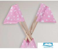 Набор флажков для Вигвама 'Звезды' розовый 16смх18см - 4 шт