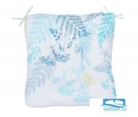 Декоративная подушка (сидушка) толстушка «Ботаника» рогожка